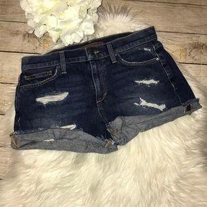 Joe's Jeans Cut Off Short Denim Distressed Shorts